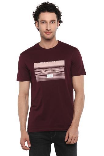 STOP -  MaroonT-Shirts & Polos - Main
