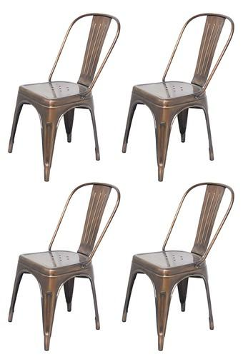 Copper Stylo Chairs Set of 4