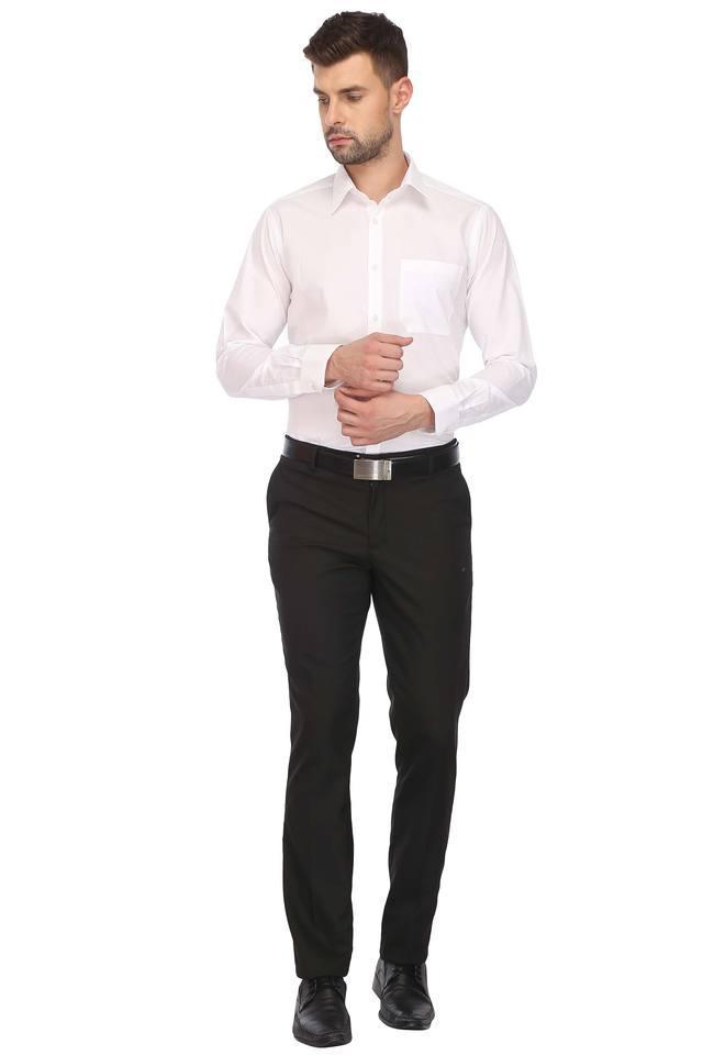 Mens Slim Collar Solid Shirt