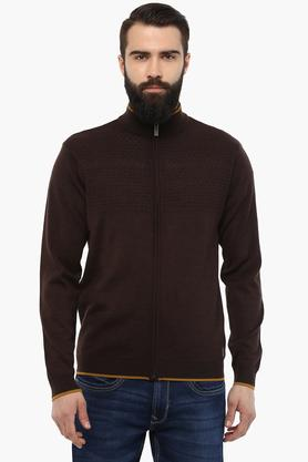PARK AVENUEMens Zip Through Neck Slub Sweatshirt