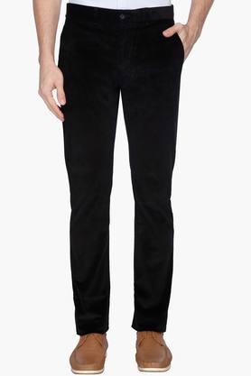 BLACKBERRYS Mens Slim Fit 4 Pocket Solid Trousers - 202744817