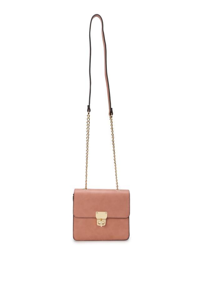Women Metallic Lock Sling Bags