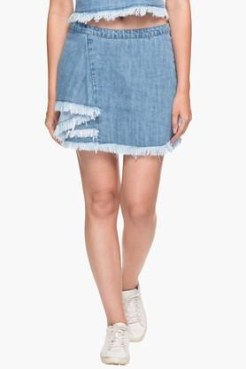 RS BY ROCKY STAR Womens Heavy Washed Short Skirt