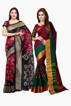 ISHINWomens Bhagalpuri Art Silk Printed Sarees - 203260373