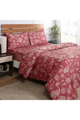 Flamboyance Clarissa Print Single Bedsheet with 1 Pillow Cover