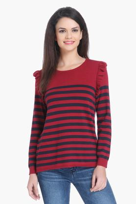 ONLY Womens Striped Casual Pullover