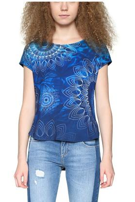 Womens Printed Woven Top