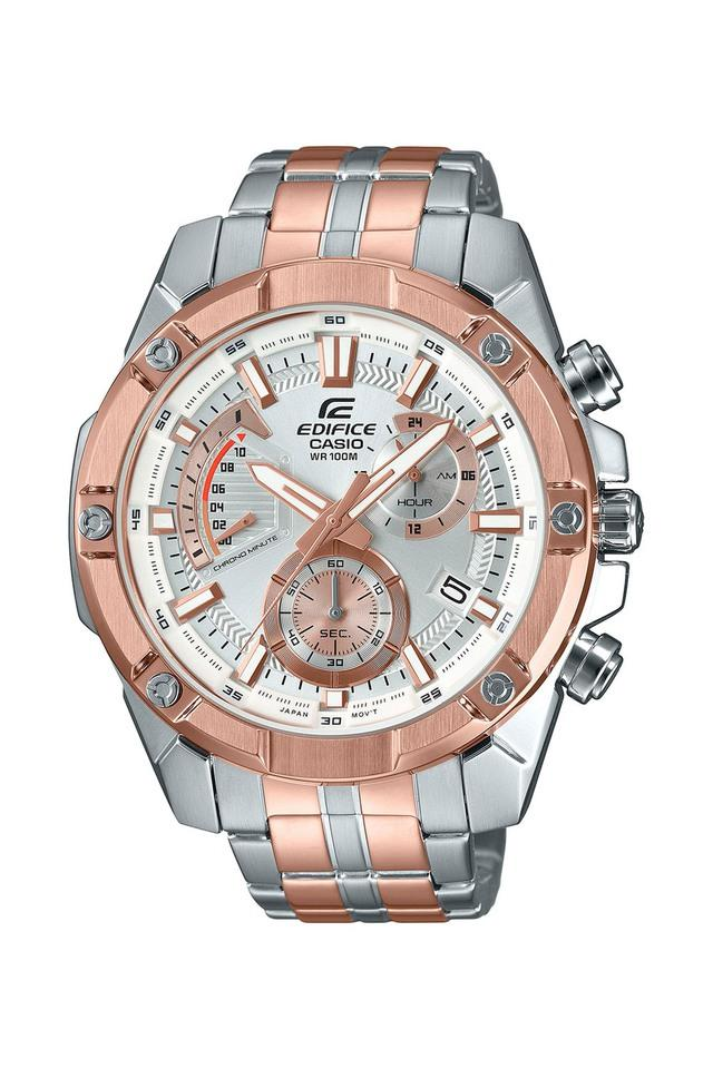 Mens Silver Dial Chronograph Watch