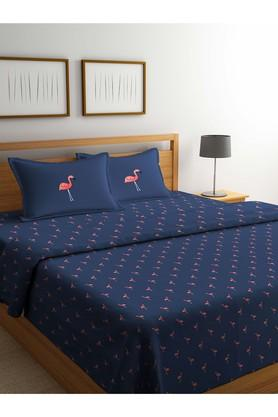 PORTICO Printed Double Duvet Cover With Bed Sheet And Pillow Cover Combo - 203989975_9900