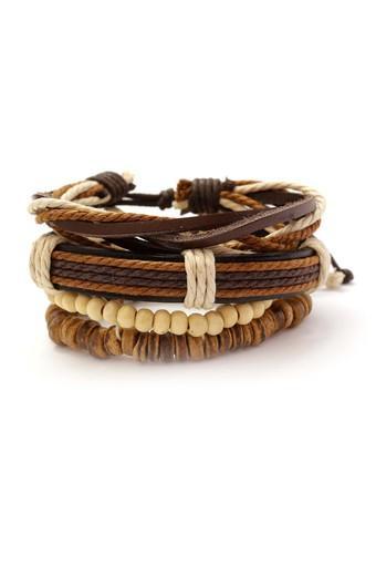 Mens Brown Leather Bracelet
