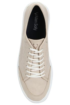 Mens Synthetic Leather Laceup Sneakers