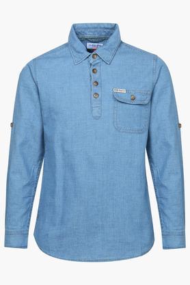 Boys Textured Casual Shirt