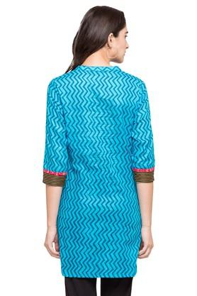 Womens Mandarin Neck Stripe Kurta