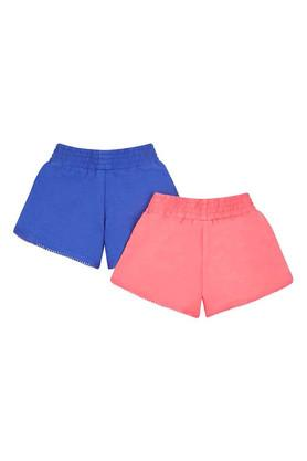 Girls Solid Shorts - Pack of 2
