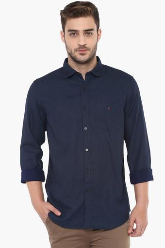Mens Self Printed Casual Shirt