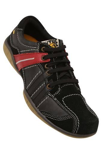Mens Leather Lace Up Casual Shoes