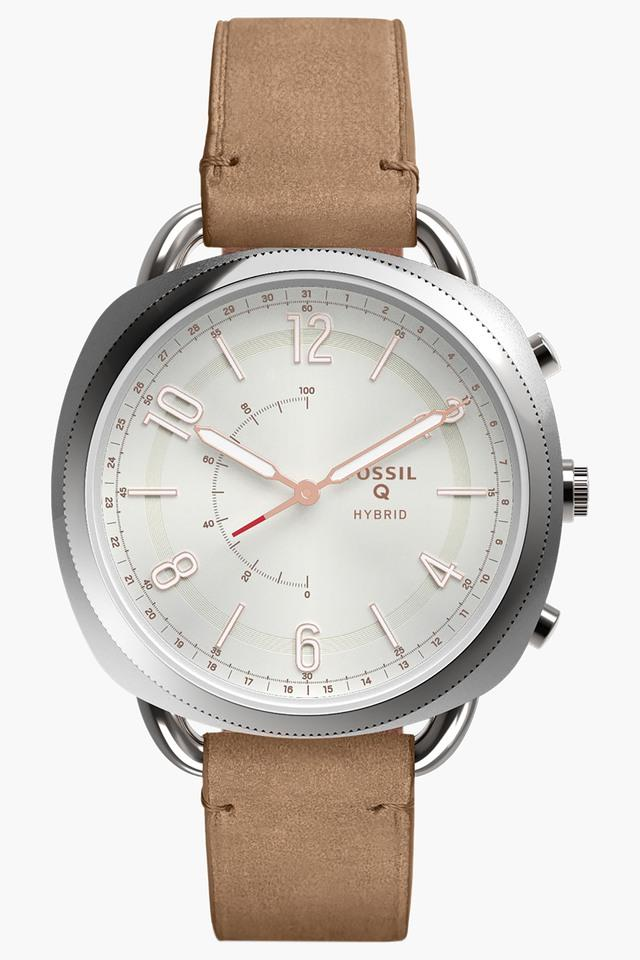 Womens Q Accomplice Sand Leather Hybrid Smartwatch - FTW1200
