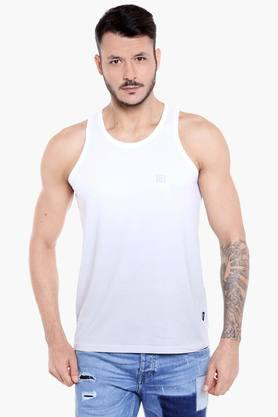 JACK AND JONES Mens Slim Fit Round Neck Solid Vest