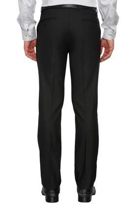 Mens 5 Pocket Solid Formal Trousers