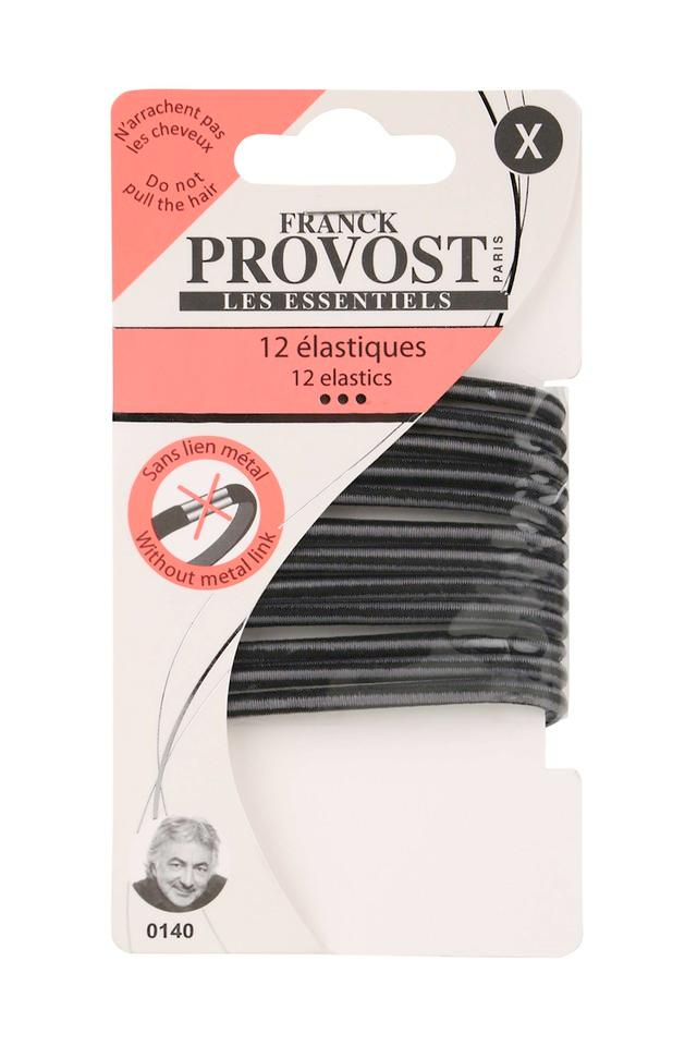 Solid Medium Elastic Ponytail Hair Rubber Bands Pack of 12
