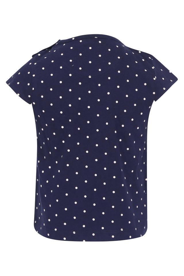Girls Round Neck Embroidered Top