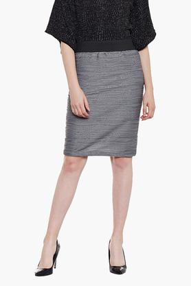 LATIN QUARTERS Womens Printed Knee Length Skirt