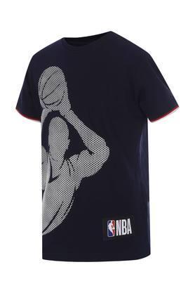 Boys Round Neck Printed T-Shirt