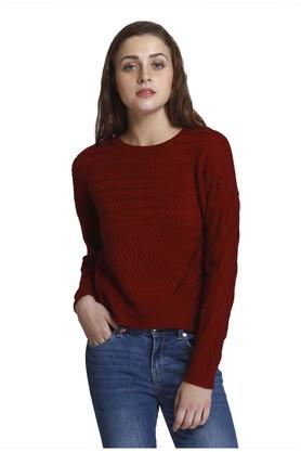ONLY Womens Round Neck Knitted Pullover
