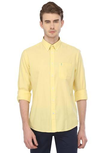 Mens Button Down Collar Solid Shirt