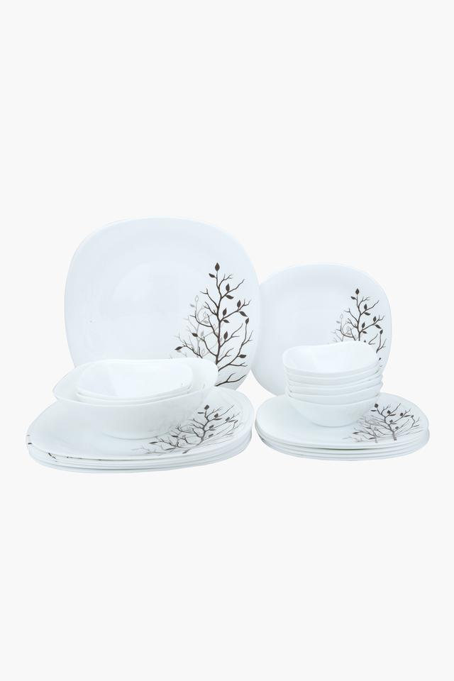 Square Autumnal Printed Dinner Set of 21