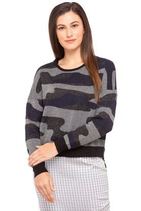 ONLYWomens Round Neck Printed Pullover