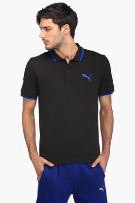 PUMAMens Solid Polo T-Shirt - 203498708