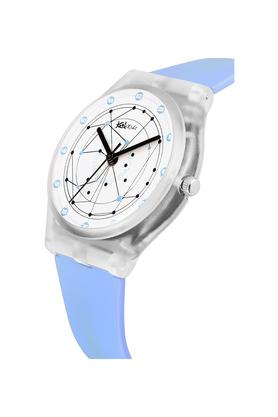 Unisex Plastic White Dial Analogue Watch - FIBER01SB01
