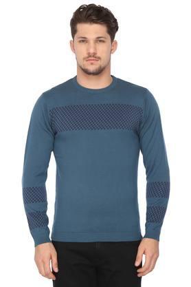 VAN HEUSEN SPORTMens Round Neck Solid Sweater