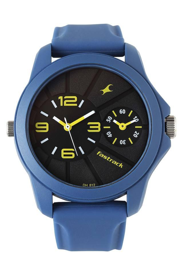 Mens Black Dial Leather Chronograph Watch - 38042PP03