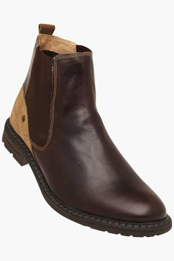 Mens Leather Slipon Boots