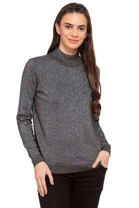 VERO MODA Womens High Neck Textured Sweater