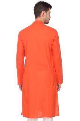 Mens Mandarin Collar Solid Kurta Set