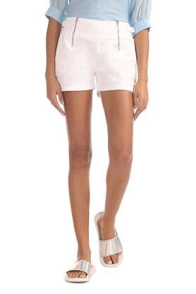 Womens Single Pocket Solid Shorts