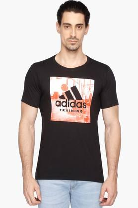 ADIDAS Mens Round Neck Printed T-Shirt - 202993694