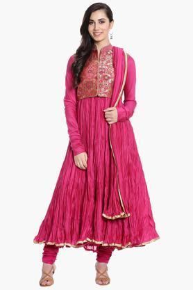 BIBAWomens Cotton Silk Anarkali Suit