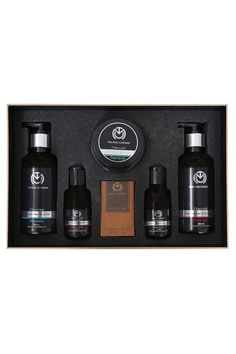 Mens Charcoal Cleansing Gel + Soap Bar + Face Scrub + Face Wash + Shampoo and Body Wash