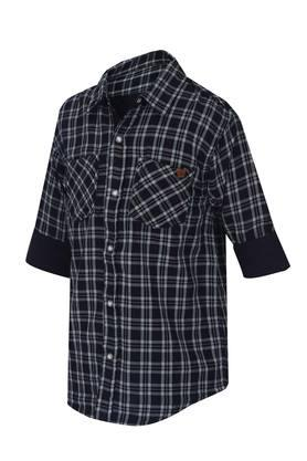 Boys Collared Checked Shirt