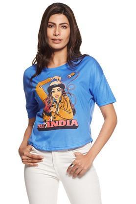 Women Mr India Round Neck Tee
