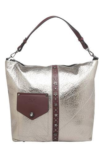 Womens Zipper Closure Hobo Handbag