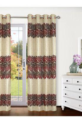 Polyester Logan Leaf Printed Long Door Curtain