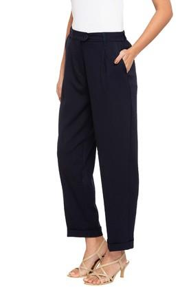 Womens 3 Pocket Solid Pants