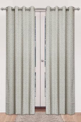Floral Self Pattern Door Curtain