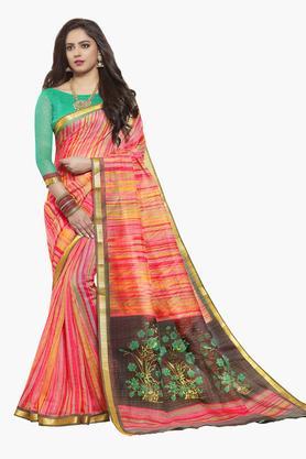 ISHINWomens Art Silk Printed Saree - 203495552_7086
