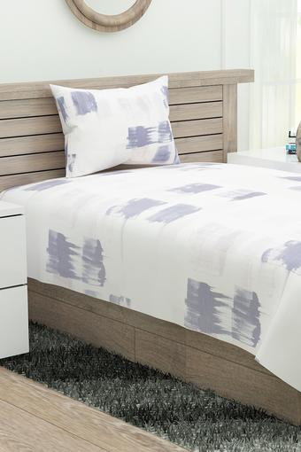 Printed Single Bedsheet with Pillow Cover